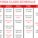 Recommended Beginning Yoga Schedule